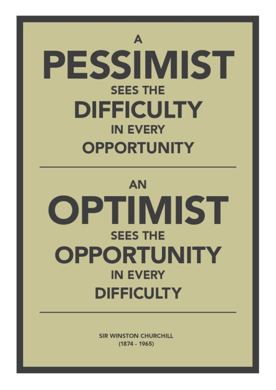 Pessimist vs Optimist
