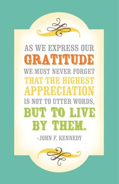 JFK On Gratitude