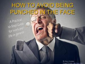 HOW TO AVOID BEING PUNCHED IN THE FACE Cvr Pg