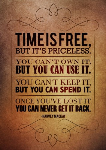 Time-is-free-but-pricesless