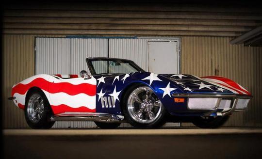 Patriotic '69 Vette Roadster