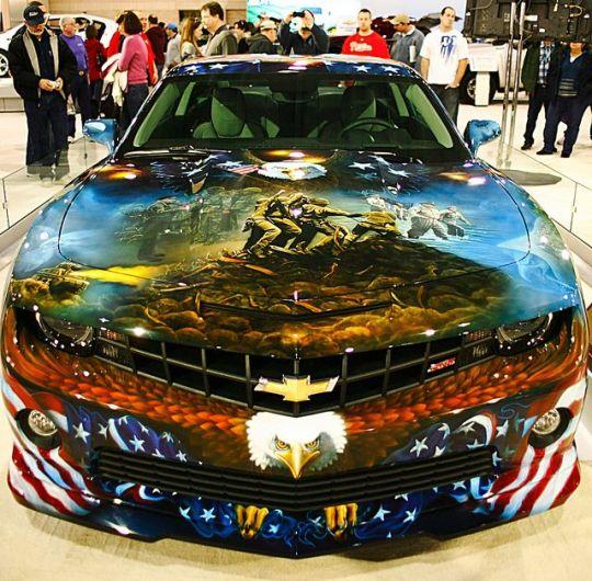 Patriotic Camaro 1