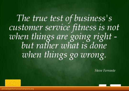 The True Test of Customer Service