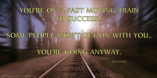Fast Moving Train To Success