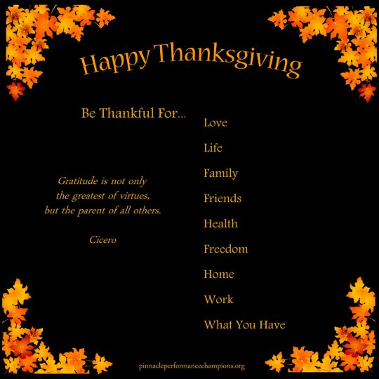 Happy Thanksgiving Gratitude