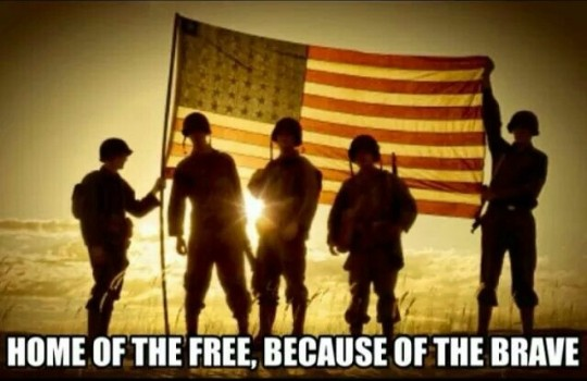 Home of the Free becuase of the Brave