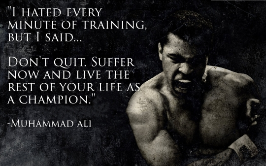 Ali on Training